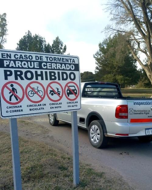 Parque cerrado en pigüé