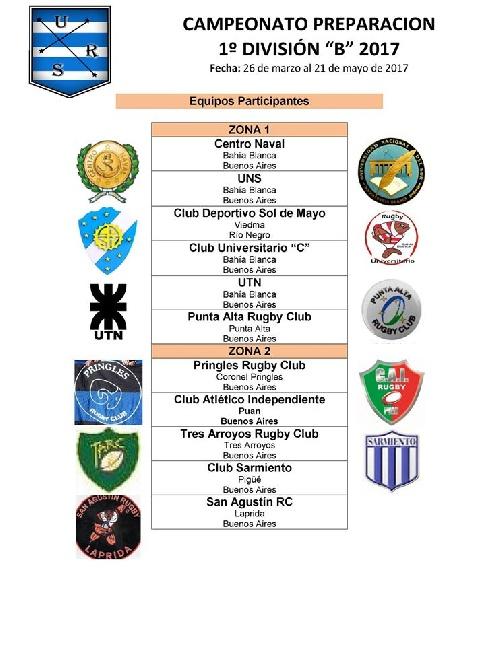 Club Sarmiento debuta el 26 de marzo en el Torneo de Primera B de Rugby.