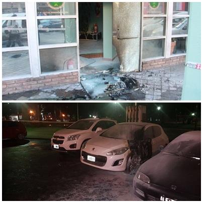 Cinco ataques con bombas molotov y explosivos en los últimos 17 días