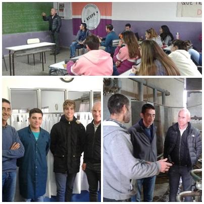 Goyena: Directivos del Colegio La Roque de la ciudad de Rodez, Aveyron, Francia visitaron la Escuela Agraria
