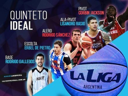Liga Argentina de Basquet - Erbel De Pietro elegido como el mejor escolta de la categoría.