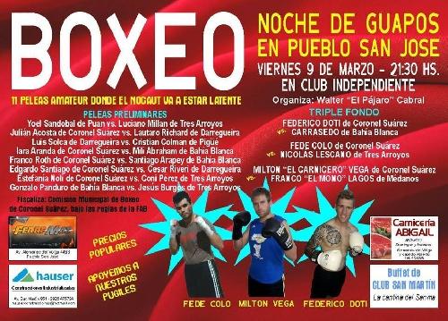 Festivales de box organizados por Walter Pájaro Cabral en Pueblo San José y Bolivar.