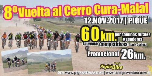 Pigue Bike organiza la 8va vuelta al Cerro Curumalal con charla previa a cargo del ciclista Edgardo Simon.