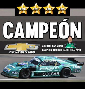 Agustín Canapino campeón 2019 del Turismo Carretera.