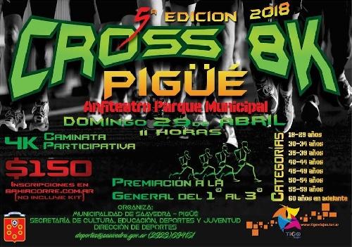 Domingo de Caminata participativa y competencia de Cross 8 K