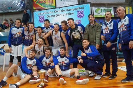 Basquet Santa Fe - Oeste con Biscaychipy finalizó 3° en el Provincial.