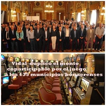 Una buena para los 135 municipios bonaerenses: la gobernadora Vidal dispuso duplicar lo que reciben por juegos de azar