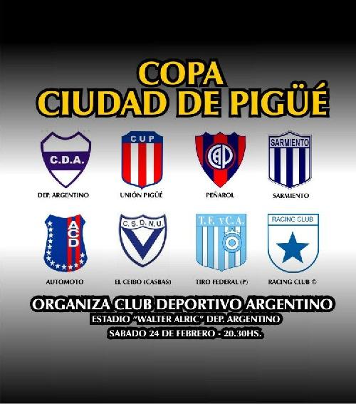 Peñarol vs Automoto y Deportivo Argentino vs Unión Pigüé los partidos de la primer jornada en el Walter Alric.