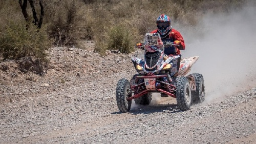 Karyakin ganó por primera vez un rally en Cuatriciclo.