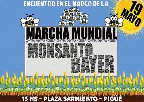 Convocan a encuentro en Pigüé por el Dia Mundial contra Monsanto