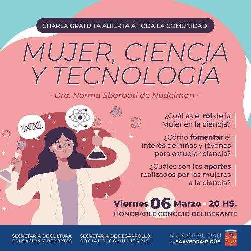 Charla abierta y gratuita: Mujer, Ciencia y Tecnología.