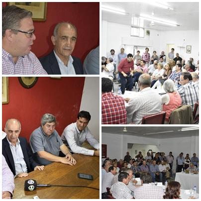 Se reunieron en Pigüé autoridades Provinciales de la UCR encabezadas por su titular y vice gobernador Daniel Salvador