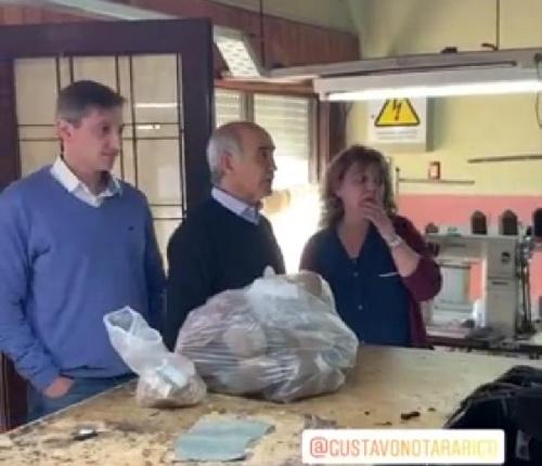 El vice gobernador bonaerense visitó un emprendimiento piguense