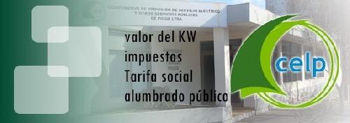 Comunicado informativo de CELP sobre tarifas y alumbrado público