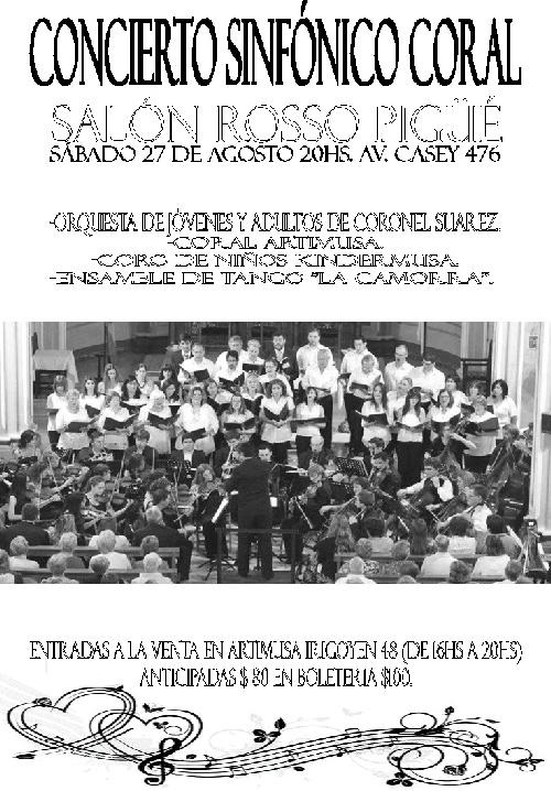 Concierto Sinfonico Coral en el Salon Rosso de la Sociedad Italiana de Pigüé