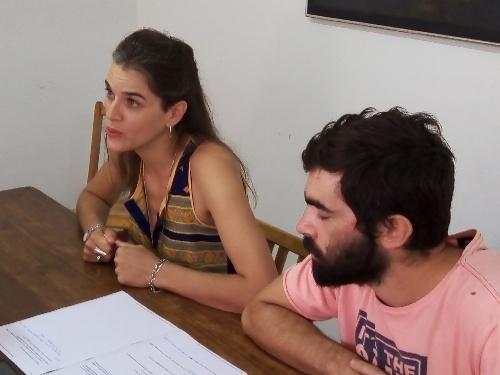Belen Fabre y Agustin Camandona presentaron actividades programadas para la semana de la Mujer