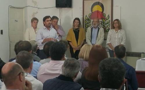 Diputado Pcial Emiliano Balbin y Concejales Cambiemos locales y de la Sexta en acto dia de la Memoria, Verdad y Justicia