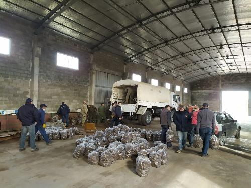6 mil kilogramos de papas recibidas en donación
