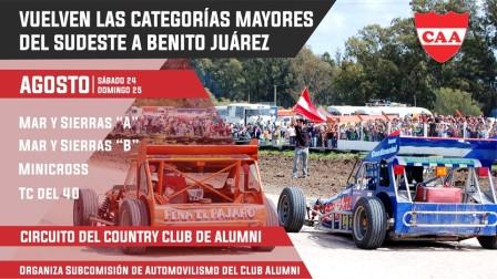 Categorías del Sudeste - La 7ma fecha llega a Benito Juárez este fin de semana.