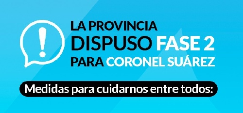 El distrito de Coronel Suárez retrocede a Fase 2
