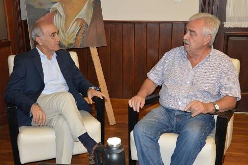 El vice gobernador de la Pcia de Bs As Daniel Salvador se reunió en la municipalidad con el intendente Corvatta