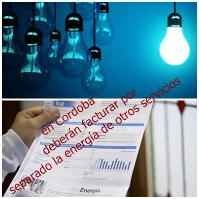 COMO CORRESPONDE: En la boleta de la luz, las cooperativas y  Epec sólo podrán facturar energía…en Córdoba
