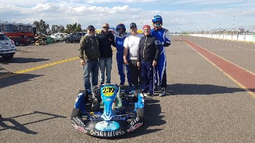 Karting de Sur: Fernando Gómez Fredes, Enzo Marti y Martin González en Viedma
