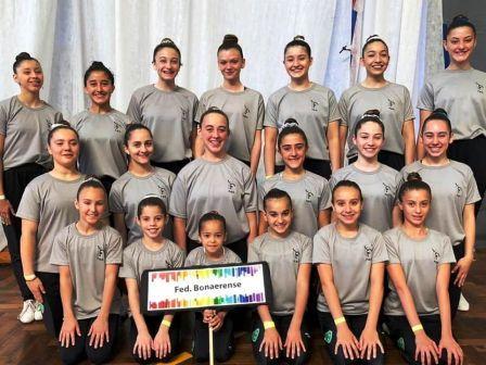 Participantes de Le Corps Gym en Final Nacional de Gimnasia Aeróbica.