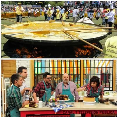 Omelette Gigante Gratuita de Pigüé con Cocineros Argentinos  en directo por la TV Pública Canal 7