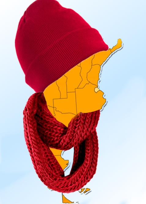 El regreso del invierno con fuerte descenso térmico para  el sur de la provincia de Buenos Aires
