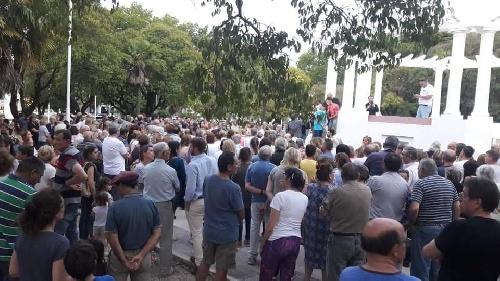 """""""Basta de paros"""": Jorge Eiras habló en nombre de los vecinos movilizados"""