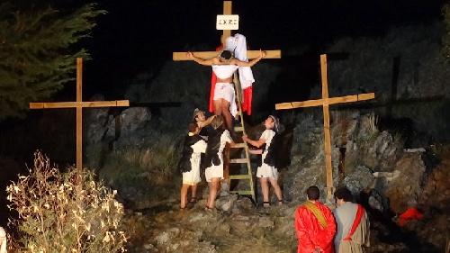 Vía Crucis Viviente en la Ermita Nuestra Señora de Luján de las Sierras de Saavedra