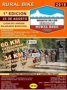 Puán tendrá su 1ra competencia de Rural Bike.