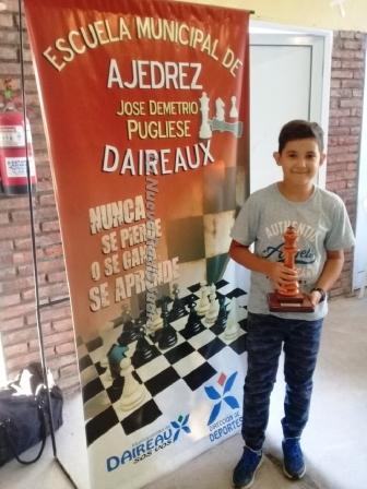 Ajedrez - Juan Cruz Hoffman recupera la punta del torneo local.