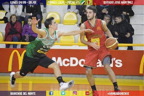 Basquet Bahiense - Villa Mitre derrotó a Bahiense del Norte en el 2° juego de semifinales.