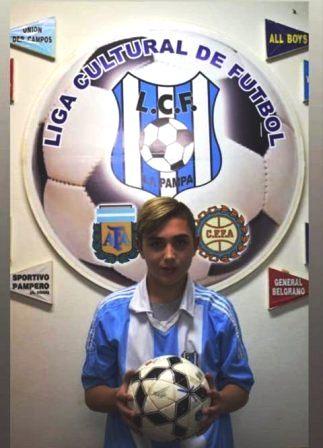 Fermín Millachi seleccionado en la Liga Cultural Sub 15.