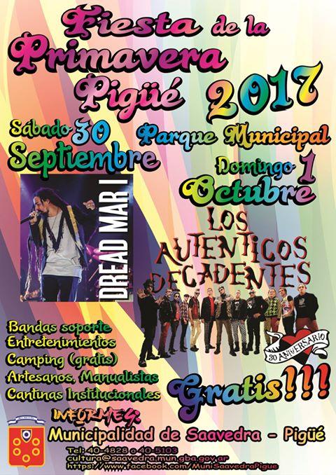 Programa y últimas novedades de la Fiesta de la Primavera Pigüé 2017