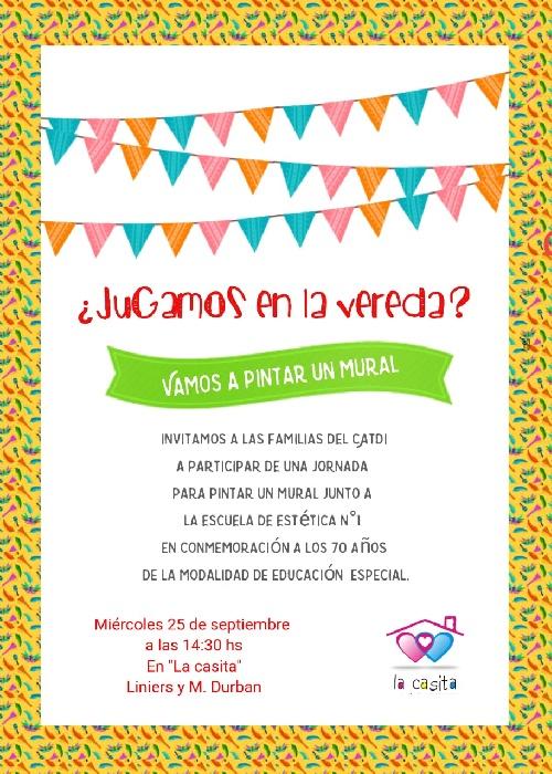 """Invitación a las familias del Centro de Atención Temprana del Desarrollo Infantil """"la Casita"""""""
