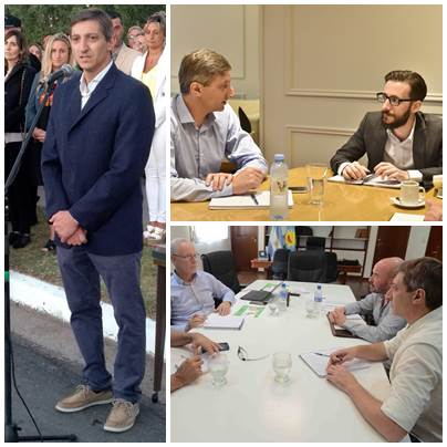 El Intendente Notararigo  se reunió con ministros del Gobernador bonaerense Axel Kicillof
