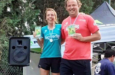 Duatlón - Valeria Krieger y Marcos Gottfridt ganaron en Posta Mixta en La Carrindanga.