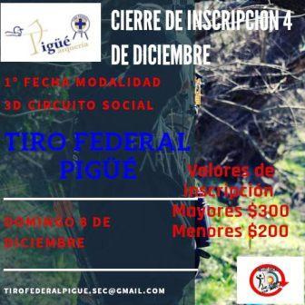 Arquería - El domingo 8 de diciembre habrá actividad en nuestra ciudad.