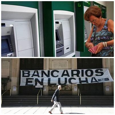 Bancos: Hasta el miercoles habrá serias dificultades en la atención al público de 13 a 15 hs. y evalúan un paro nacional