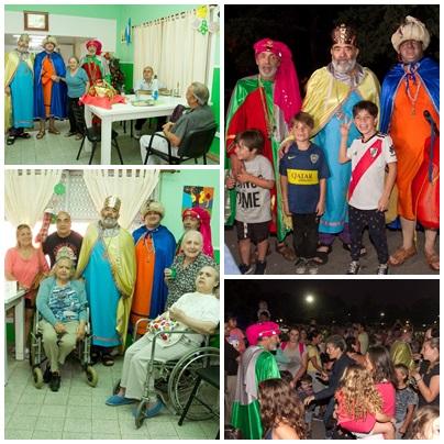 Los reyes magos en Pigüé repartieron alegria y regalos a niños y abuelos