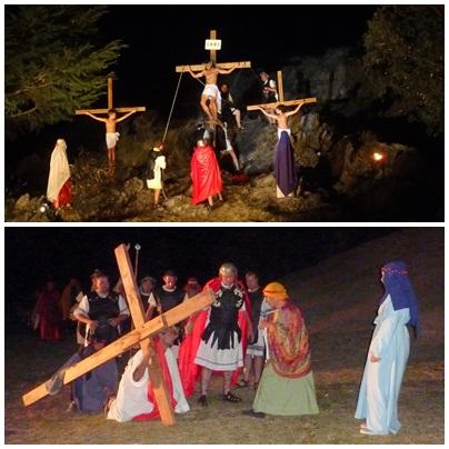 Ensayos y transporte para el Vía Crucis Viviente en la Ermita de Saavedra