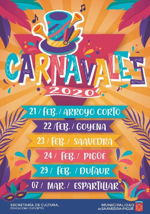 Carnavales 2020 en Pigué y localidades del distrito