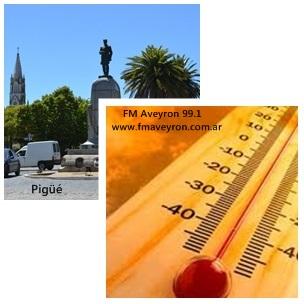 Pigüé: fuerte baja de la temperatura