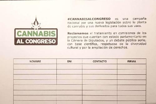 """Junta de firmas """" Cannabis al Congreso"""""""