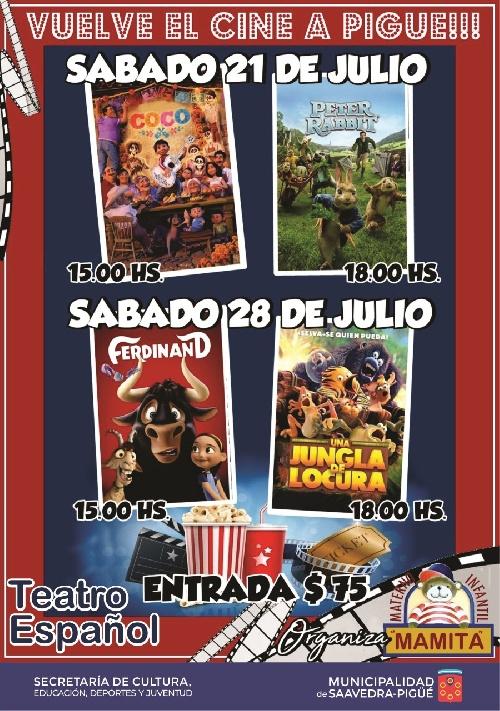 Cine en el Teatro Español organizado por el Materno Infantil Mamita