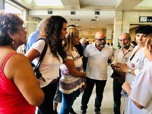 MERQUEL con trabajadores y vecinos del Hospital Posadas