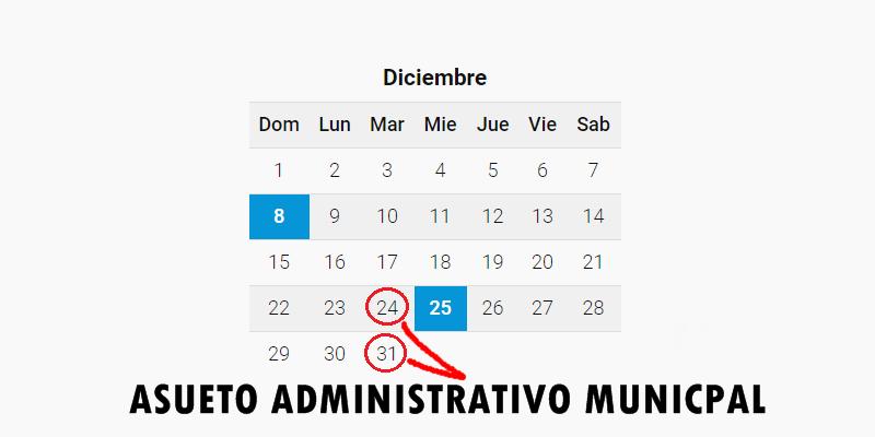 ASUETO MUNICIPAL